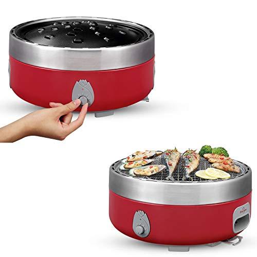 Freshore JA-BG01 - Barbacoa portátil de carbón vegetal para exteriores...