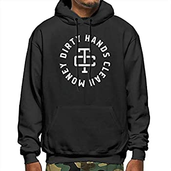 The Dirty Hands Made Clean Money Men s Warm Hooded Sweatshirt Black