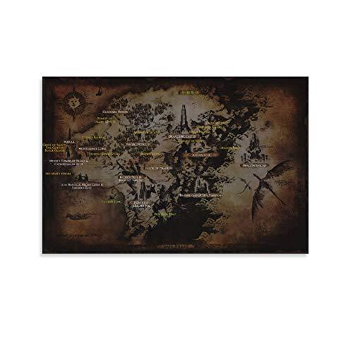 BUJI Poster sur toile Dark Souls 2 pour décoration murale 30 x 45 cm