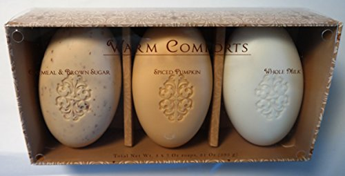 San Francisco Soap Co. Oatmeal Brown Sugar, Spiced Pumpkin & Whole Milk Moisturizing Bath Bar Soaps - Warm Comforts Gift Set 3 x 7 OZ each
