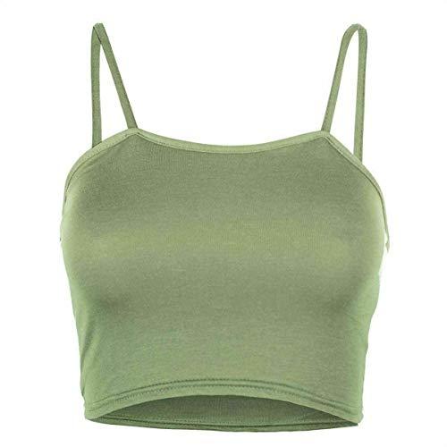 Bralet de tirantes para mujer sin mangas para mujer, chaleco elástico – 8 – 14 Cami Basic Gym Sports Running Bra