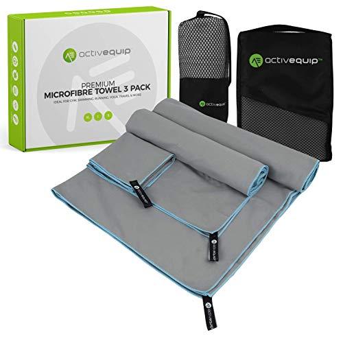 ActivEquip - Juego de toallas de microfibra extra grandes, 3