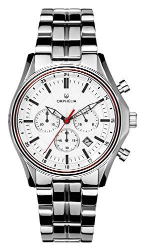 ORPHELIA Herren Chronograph Quarz Uhr mit Edelstahl Armband OR82810