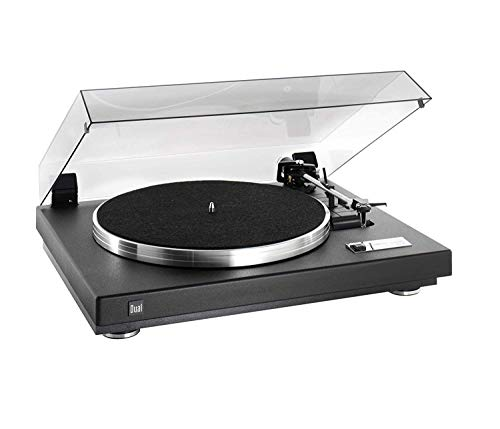 Dual CS 460 Schallplattenspieler Strukturlack schwarz/Silber