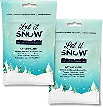 Let it Snow Instant Snow Powder for Slime - Premium Fake Snow for Slime Supplies - Made in The USA Non-Toxic and Safe - Mix Makes 2 Gallons of Artificial Snow for Cloud Slime and Snow Decorations