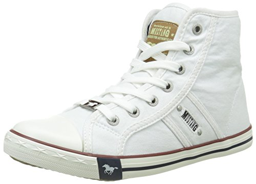 Mustang Damen 1099-502-1 High-Top, Weiß (weiß 1), 37 EU