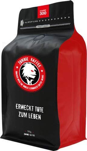 Zombie Kaffee 300, 500g - Ganze Bohnen, STÄRKER als Arabica Bohnen