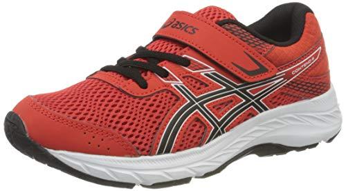 ASICS Contend 6 Running Shoe, Fiery Red/Black, 33 EU