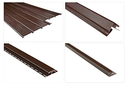 RAINWAY Kunststoffpaneele & Zubehör braun - Verkleidung von Dachüberständen, Decken- & Wandflächen - (1 Paneel, 2m standard) Dachkasten Dachübertstand