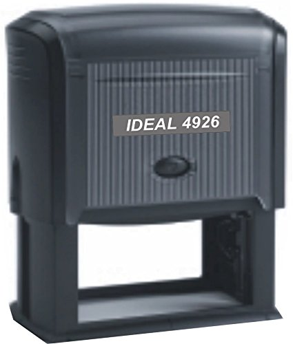 Extra Large Self Inking Stamp - Custom Text Message - Up to 4 Lines of Large Text