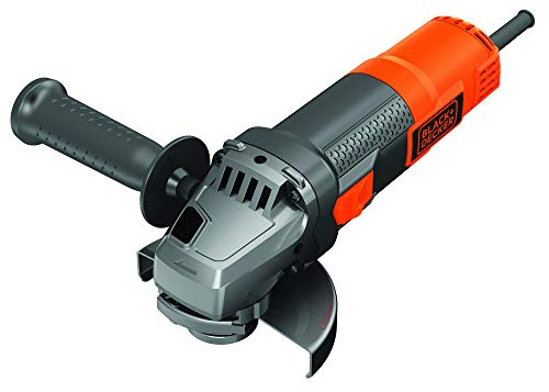 Black+Decker BEG220KA5-QS Winkelschleifer, 900 W-12 000 U/min, Zubehörwechsel, 4 Sägen und 1 Diamantscheibe, Lieferung in Werkzeugkasten