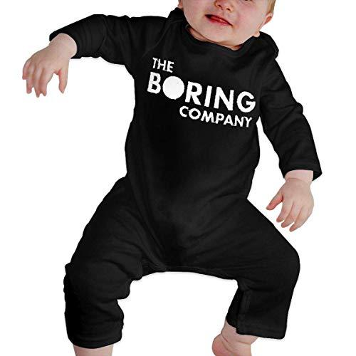GLGFashion Unisex The Boring Company Newborn Baby 6-24 Months Baby Climbing Clothing Baby Long Sleeve Garment Black Combinaisons Body bébé Barboteuse