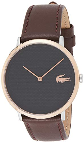 Lacoste Unisex Analog Quarz Uhr mit Leder Armband 2010952