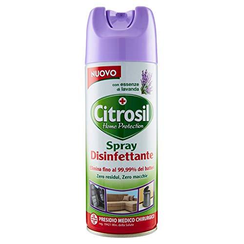 Citrosil Home Protection - Spray Disinfettante con Vere Essenze di Lavanda, Superfici Multiuso, Elimina Fino al 99,9% dei Batteri, 300 ml