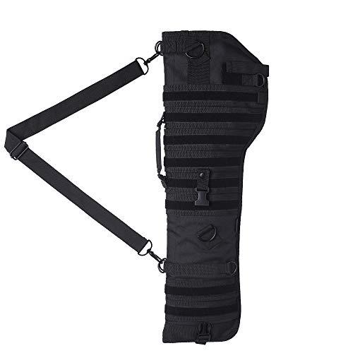 Kylebooker Escopeta táctica Rifle Scabbard Bag Velco Molle Hombro Sling Case Caza Bolsas de Transporte Funda