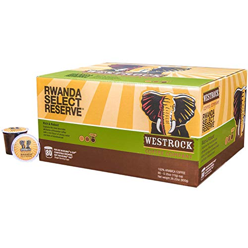 Westrock Coffee Company, Rwanda Select Reserve, Single Serve Coffee Cup, Dark Roasted, 80 Count