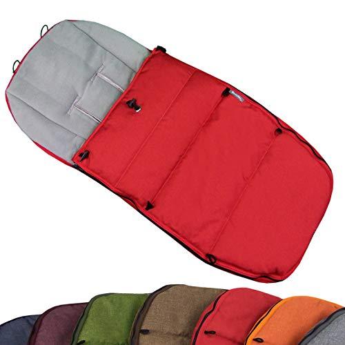 BAMBINIWELT voetenzak wintervoetenzak voor BUGABOO kinderwagen, universeel, zitkussen, met fleece (Mod-K) rood