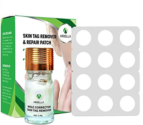 Ariella Mole and Skin Tag Remover and Repair Patch Set, Remove Moles and...