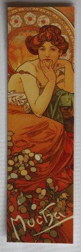 Jugendstil Lesezeichen, Topas, Von Alphonse Mucha Gemälde von 1909