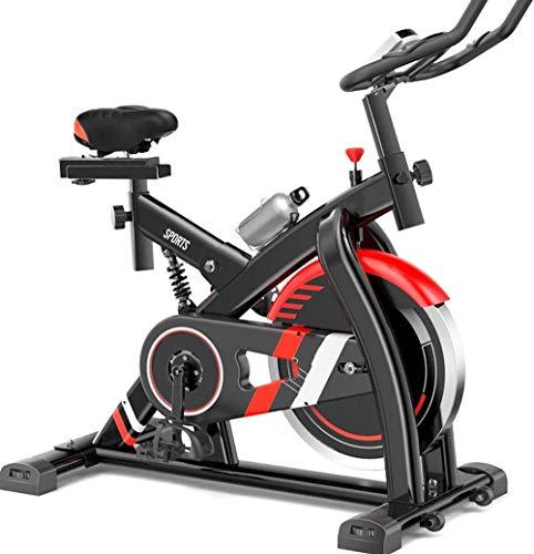 Bicicleta estática para ciclismo en interiores,bicicleta estática con transmisión por correa Ultra silenciosa para el hogar Bicicleta estática para interiores Equipo de ejercicios Bicicleta estática c