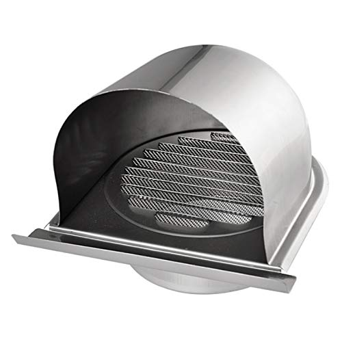 HG POWER 4 Inch Stainless Steel Air Vents Waterproof Soffit Vent Wall & Ceiling Cover Soffit Ventilation for Home or Office
