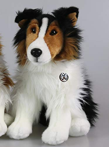 Border Collie Tango Australian Shepherd Hund sitzend Tricolor Plüschtier 26 cm
