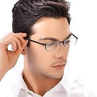 KLESIA 老眼鏡 ブルーライトカット 超軽量 コンパクトに収納 リーディンググラス ファッション (度数:+1.5, 黒 ブラック)
