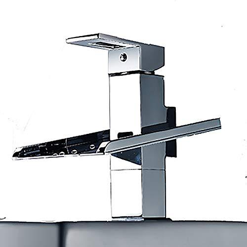 DKEE Grifo Grifo para Lavabo De Baño Multicolor Moderno - Cascada/Cromo LED Independiente Grifo De Bañera con Dos Orificios De Una Manija Y Latón
