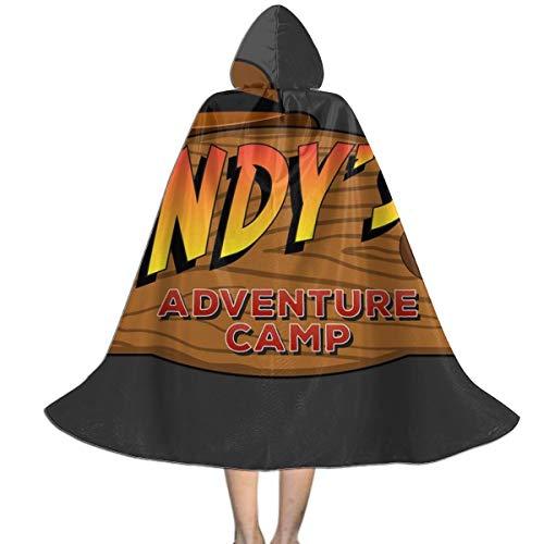 NUJSHF Indys Adventure Camp Indiana Jones Unisex Kinder Kapuzenumhang Umhang Umhang Cape Halloween Weihnachten Party Dekoration Rolle Cosplay Kostüme Outwear