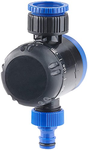"""Royal Gardineer Wasserzeitschaltuhr: Mechanische Bewässerungs-Schaltuhr, bis 120 Min, 3/4\""""-Gewinde (Bewässerungszeitschaltuhr)"""