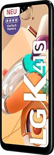 LG K41s Smartphone 32 GB (16,63 cm (6,55 Zoll) HD+ Display mit Notch, Premium 4-Fach-Kamera, MIL-STD-810G, DTS:X 3D Surround Sound) Schwarz