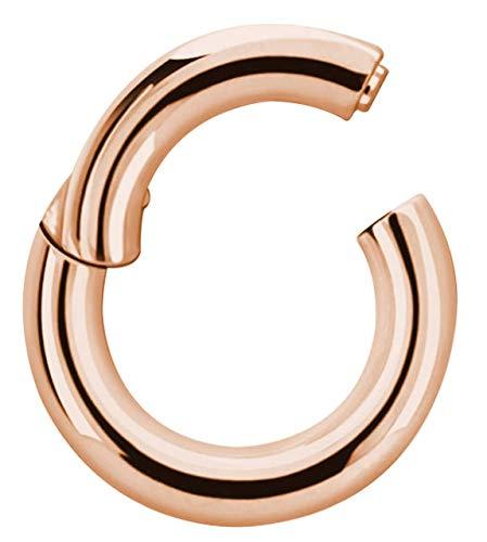 Piercing Joya Segmento Suave Anillo Clicker Oro Rosa En 3,0 MM - Oro Rosa