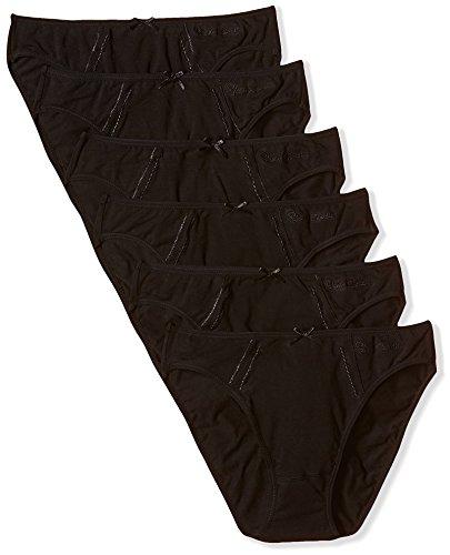 Pierre Cardin Pack X 6 Braguitas, Mujer, Negro, M