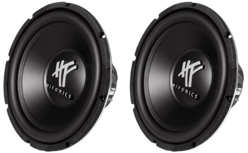 Hifonics HFX12D4 12-Inch 1600 Watt HF Series Dual 4 Ohm Car Subwoofers, Pair of 2