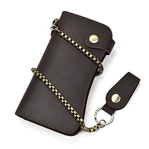 Herenportemonnee lange portemonnee ketting anti-diefstal clutch tas anti-degaussing gestolen penseel portemonnee