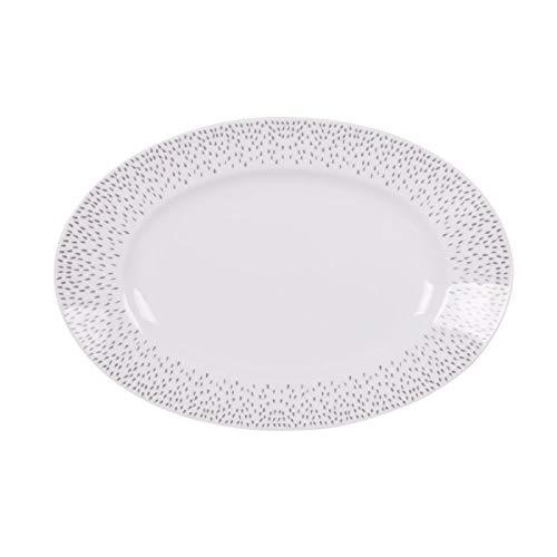 Table Passion - Plat ovale 35 cm éole gris