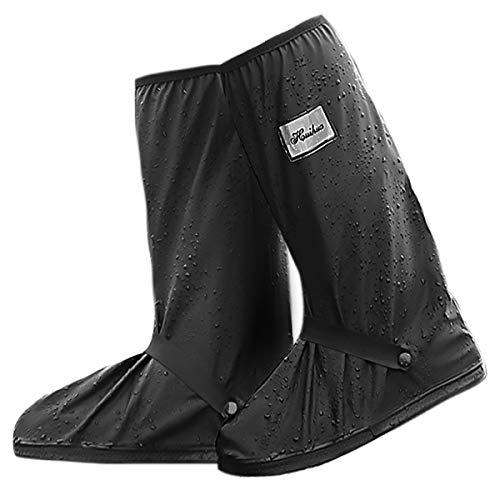 NATUCE Regenüberschuhe Wasserdicht Schuhe Überschuhe für Männer Frauen, Outdoor Rutschfester Schuhüberzieher Wiederverwendbar, Regenüberschuhe, Hohe Regenschutz Galoschen für Regen Schnee (M)