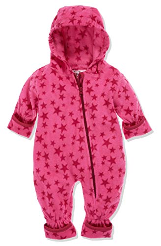 Playshoes Baby-Unisex Fleece-Overall Sterne Schneeanzug, Rosa (Pink 18), 74