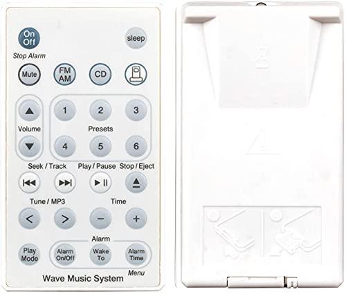 Universal Ersatz Fernbedienung passend für Bose Sound Touch Wave Music Radio System I II III IV (ohne Batterie) weiß