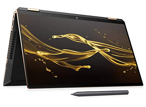 "HP Spectre x360 15-eb0003na 4K UHD 15.6"" IPS Convertible Laptop - i7 10750H, 16GB DDR4, 1TB SSD, Nvidia GeForce GTX 1650 Ti Max Q, WIFI 6 & Bluetooth 5.0, Windows 10 Pro - UK Keyboard Layout (Renewed)"