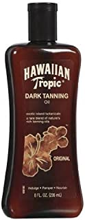 Dark Tanning Oil, 8 fl oz, (Pack of 2) Hawaiian Tropic by Hawaiian Tropic