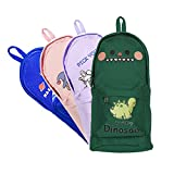 Pencil Case, School Bag Pencil Case Large Capacity Stand up with Compartments Foldable Canvas with Zipper for School Boys Girls Adult