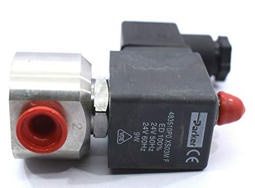 Parker 483510P0 XS03M F bobina de lucifer de válvula solenoide de 3 vías 24 VAC 9 W 50/60 Hz