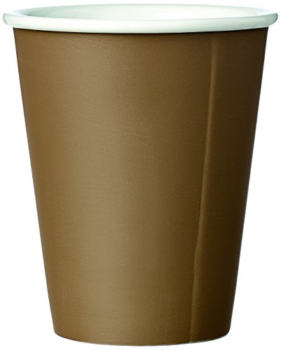 Kaffeebecher Porzellan mit Matt Finishing ohne Henkel, Medium Espressotasse, Design Teetasse Beige 0,20L