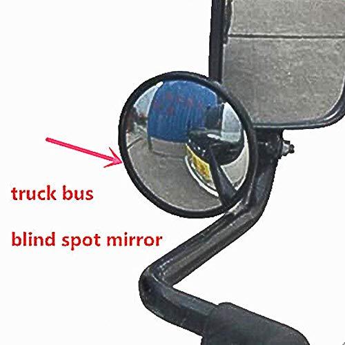 Preisvergleich Produktbild GJCKMKM 1pc Einstellbarer Totwinkelspiegel LKW / Bus-Rückspiegel Großer Runder Spiegel,  Der Das Große Sichtfeld Umkehrt, 14.5cm*2.5cm~3cm