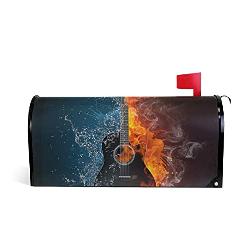 prz0vprz0v Elektrische Gitaar Magnetische Mailbox Cover Standaard Grootte 21 x 18 Inch Waterdichte Canvas Mailbox Cover