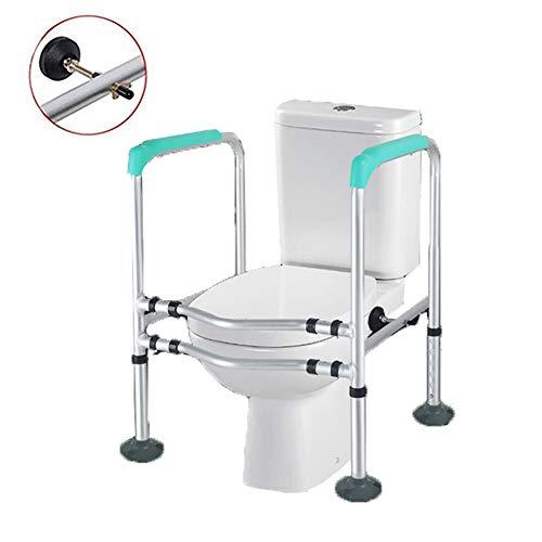 LFFME Toilet Surround Frame, Breedte En Hoogte Verstelbaar, Standaard Alleen Apparaat, Toilet Veiligheid Frame Voor Ouderen, Handicapped, En Gehandicapten Hulp