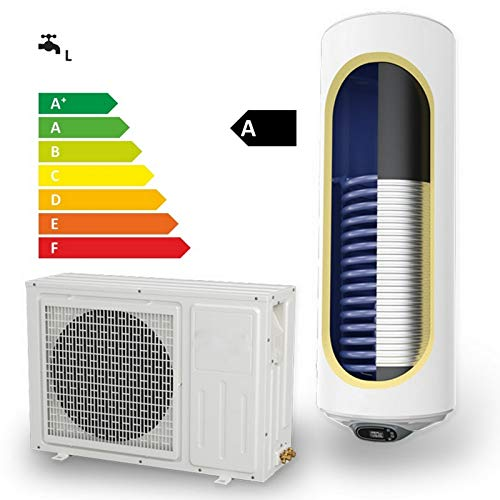 Wärmepumpen Warmwasserspeicher Luft/Wasser-Wärmepumpenanlage 120 150 Liter mit 1 Wärmetauscher und 2000 Watt Heizleistung wandhängend Solarspeicher 120/150 Liter Luft Wasser Wasser Heizung Keller…
