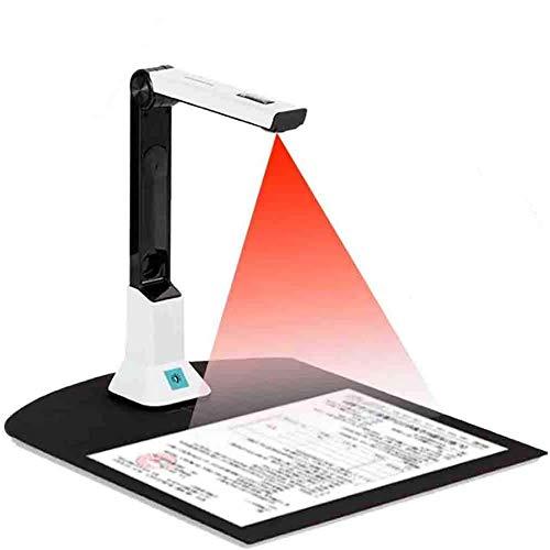 Automatischer Buchscanner, 8 MP Dokumentenkamera Und Visualizer, Hochauflösender A4 Scanner, Automatischer Bildkorrektur Für Büro, Bildung Und Schulung,
