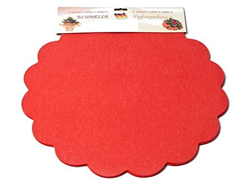 Decpero Blumella Topfmanschetten / 25 Stück / 44 cm/rot